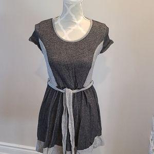 Kenzie pieces Heathered blk & grey dress